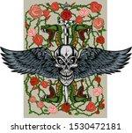viper snake. colorful tattoo...   Shutterstock .eps vector #1530472181