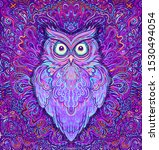 cute abstract owl and... | Shutterstock .eps vector #1530494054