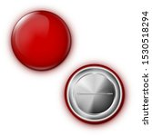 realistic red blank badge pin... | Shutterstock .eps vector #1530518294