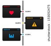 timeline dark theme   3 options ... | Shutterstock .eps vector #153052475