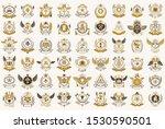 classic style emblems big set ... | Shutterstock .eps vector #1530590501