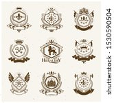 heraldic signs  elements ... | Shutterstock .eps vector #1530590504