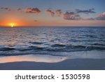 Sunset At Beach At Naples ...