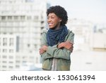 smiling casual woman posing... | Shutterstock . vector #153061394