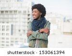 smiling casual woman posing... | Shutterstock . vector #153061394