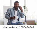 coffee break in office.... | Shutterstock . vector #1530624041