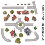 different buildings. set of...   Shutterstock .eps vector #153064091