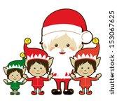 christmas design over white... | Shutterstock .eps vector #153067625
