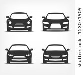 vector set of different car...