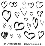 Hearts On Isolated White...