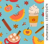 seamless vector background with ... | Shutterstock .eps vector #1530731474