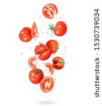 Whole And Sliced Fresh Tomatoes ...