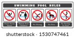 swimming pool rules. set of... | Shutterstock .eps vector #1530747461