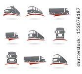 trucks set. vector  | Shutterstock .eps vector #153076187