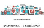 concept of influencer marketing ... | Shutterstock .eps vector #1530808934