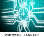 lcd matrix circuit of time... | Shutterstock . vector #153081314
