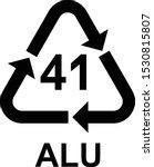 aluminium recycling symbol alu... | Shutterstock .eps vector #1530815807