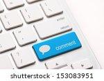 comment enter key and speech... | Shutterstock . vector #153083951