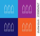 bullet line icons. elements of...