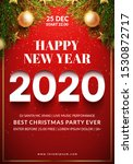 christmas party flyer design.... | Shutterstock .eps vector #1530872717