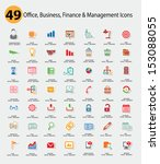 office and business concept...   Shutterstock .eps vector #153088055