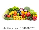 different multi colored healthy ... | Shutterstock . vector #1530888731