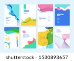 set of brochure  annual report  ... | Shutterstock .eps vector #1530893657