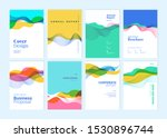 set of brochure  annual report  ... | Shutterstock .eps vector #1530896744