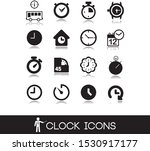 clocks icons and other time...