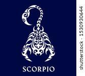 scorpio. horoscope.... | Shutterstock .eps vector #1530930644