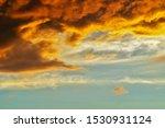 Blurred Dramatic Sunset Like...