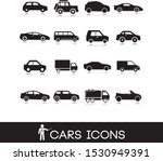 vehicle symbols. cars icons set ...