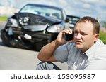 adult upset driver man... | Shutterstock . vector #153095987