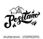 positano. the name of italian... | Shutterstock .eps vector #1530962051