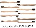 Bamboo eco toothbrush set on...