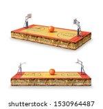 basketball playground. 3d... | Shutterstock . vector #1530964487