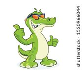 Smiling Crocodile Cartoon ...