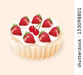 vector illustration cake with... | Shutterstock .eps vector #153098801