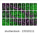 green and purple glowing... | Shutterstock . vector #15310111