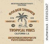 vintage handcrafted font. 3d...   Shutterstock .eps vector #1531012667