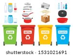 recycle bins for plastic  metal ... | Shutterstock .eps vector #1531021691