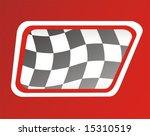 race flag in window  red...   Shutterstock . vector #15310519