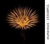 golden orange amazing fireworks ... | Shutterstock . vector #153108911
