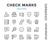 check marks line icons set.... | Shutterstock .eps vector #1531096691