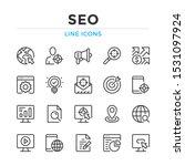 seo line icons set. modern... | Shutterstock .eps vector #1531097924