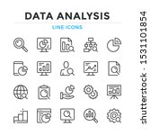 data analysis line icons set.... | Shutterstock .eps vector #1531101854