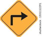 symbol of right turn signal   Shutterstock .eps vector #1531112291