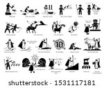 story of moses and exodus.... | Shutterstock .eps vector #1531117181
