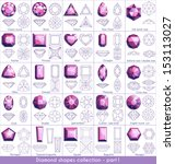 diamond shapes collection  ... | Shutterstock .eps vector #153113027