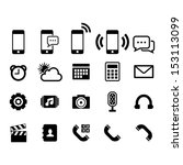 phone icon set | Shutterstock .eps vector #153113099